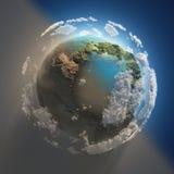 Limpe o planeta contra sujo ilustração do vetor