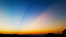 Limpe o por do sol Imagem de Stock