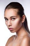 Limpe o retrato da beleza Imagem de Stock Royalty Free