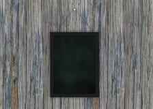 Limpe a placa de giz na parede de madeira para o fundo Textura para o fundo educacional ou do negócio ilustração do vetor