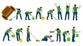 Limpe a silhueta masculina Fotografia de Stock