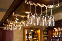 Limpe vidros vazios secos Foto de Stock Royalty Free