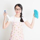 Limpeza da jovem mulher Imagens de Stock Royalty Free
