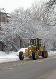 Limpeza da neve da cidade fotos de stock royalty free