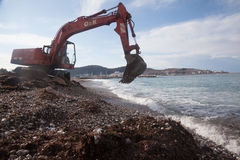 Limpeza da praia Fotos de Stock Royalty Free