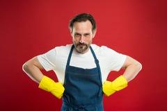 Limpeza da primavera Conceito de limpeza comercial da empresa ajudante doméstico Cuidados da empregada doméstica ou do houseman s imagens de stock
