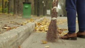 Limpeza da rua video estoque