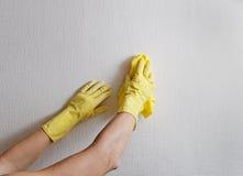 Limpeza das mãos. fotografia de stock