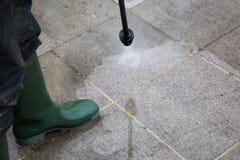 Limpeza de alta pressão Foto de Stock Royalty Free
