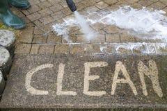 Limpeza de alta pressão Fotografia de Stock Royalty Free