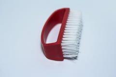 Limpeza de escova vermelha Fotos de Stock Royalty Free