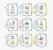 Limpeza de janela, limpador de lavagem e ícones do champô Temporizador da máquina de lavar louça, luvas de borracha e sinais do a ilustração do vetor