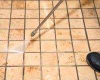 Limpeza de mármore da pressão do assoalho Imagem de Stock