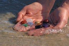 Limpeza de pedra de Chakra Imagem de Stock Royalty Free