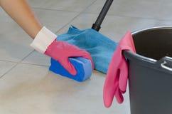 Limpeza diária da casa Fotografia de Stock Royalty Free