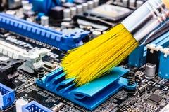 Limpeza do computador Fotografia de Stock