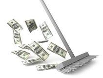Limpeza do dólar Fotografia de Stock