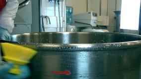 Limpeza e máquina de lavar para preparar a massa filme