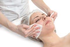Limpeza facial da máscara fotografia de stock