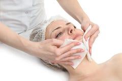 Limpeza facial da máscara imagens de stock royalty free