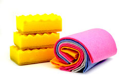 Limpeza, matéria têxtil, Fotografia de Stock