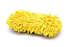 Limpeza moderna da esponja isolada no fundo branco Fotografia de Stock