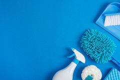 A limpeza utiliza ferramentas o fundo imagem de stock royalty free
