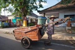 Limpiador de la basura Fotos de archivo