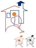 Limpiador de la casa libre illustration