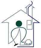 Limpiador de la casa ilustración del vector