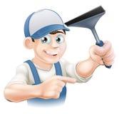 Limpiador de ventana del enjugador Fotografía de archivo libre de regalías