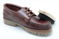 Limpiador de zapato Foto de archivo