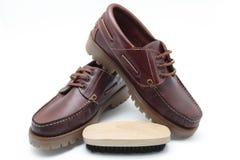 Limpiador de zapato Imagen de archivo libre de regalías