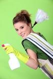 Limpiador joven astuto Imagen de archivo