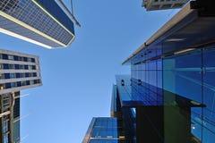 Limpiadores de ventana del rascacielos Imágenes de archivo libres de regalías