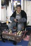Limpiadores de zapatos en Estambul Imagenes de archivo
