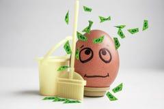 Limpiamiento del cuerpo Dieta Concepto El huevo Imágenes de archivo libres de regalías