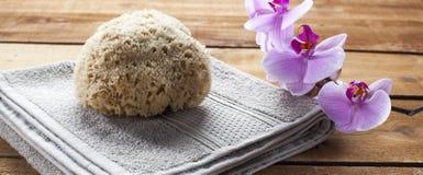 Limpiamiento y pureza de la piel en la sauna o el hammam Foto de archivo