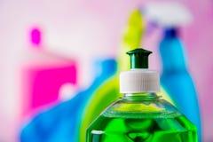 Limpiando, lavándose, colores vivos Fotos de archivo libres de regalías