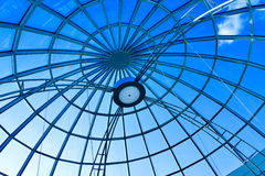 Limpid round ceiling. In vivid colors stock photo