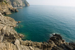 Limpid water. Of the Mediterranean - Cinque Terre - Italy Royalty Free Stock Images