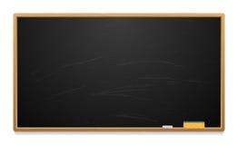 Limpie al consejo escolar con tiza y la esponja Imagenes de archivo