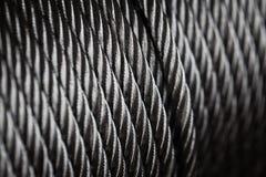 Limpie el alambre de acero del nuevo cable de acero o la cuerda de acero imagenes de archivo