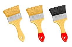 Limpie el cepillo de pintura. Foto de archivo