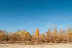 Limpie el cielo del otoño Fotos de archivo libres de regalías