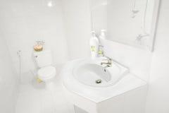 Limpie el cuarto de baño Imagen de archivo libre de regalías