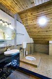 Limpie el cuarto de baño Foto de archivo
