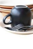Limpie el Dishware Fotografía de archivo