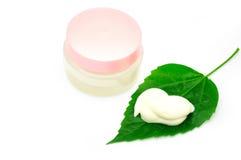 Limpie el facial poner crema Imágenes de archivo libres de regalías