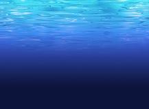 Limpie el fondo del mar profundo - agua azul clara Imagenes de archivo